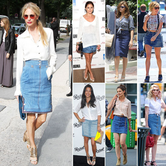 Celebrities-Wearing-Denim-Skirts-2012